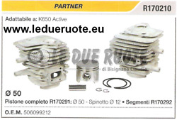 506099212 Kit Cylinder And Piston Partner K650 Active Chainsaw Andoslash 50 Pin 12