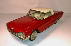 Vintage Mid-1960and039s Tin Lithograph 1965 Ford Thunderbird Convertible