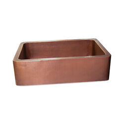 Coppersmith Creations Single Bowl Antique Hammered Copper Kitchen Sink