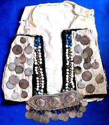 Vintage Vest, Coins And Buckle Silver  Ottoman Periods