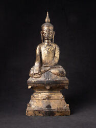Antique Burmese Shan Buddha Statue From Burma Late 18th Century