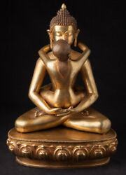Large Bronze Buddha Shakti Statue From Nepal Newly Made In Very High Quality