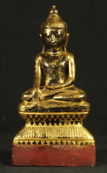 Antique Wooden Shan Buddha Statue From Burma 18th Century