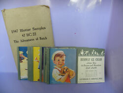 Lot Of 12 Vintage 1947 Blotter Samples 47 Bc 22 The Adventures Of Butch - Eb87