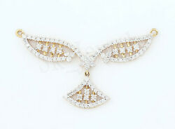 Christmas2.10ct Natural Round Diamond 14k Solid Yellow Gold Mangalsutra Necklace