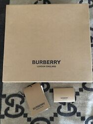 Burberry Large Empty Bootie Shoe box. 11 12 Inches. BOX AND PAPERS ONLY. $50.00