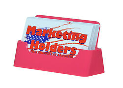 Plastic Business Card Holder Gift Card Display Stand Pink Acrylic Qty 400