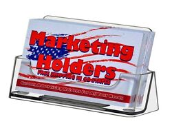 Business Card Holder Gift Card Display Ridged Horizontal Stand Clear Qty 10,000