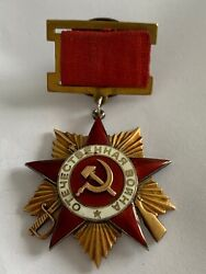 Rare Original Order Of The Patriotic War 1st Class 16780 Silver And Gold 1942