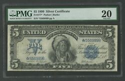 Fr277 5 1899 S/c Chief Star Note Pmg 20 Vf+ 10 Known Ext Rare Wlm8578