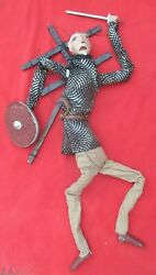 Mexican Outside Folk Art Fantastic Large Don Quixote Marionette Puppet
