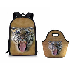 Back To School Kids Boys Backpack Bookbags Handle Lunch Bags Carry Totes Case