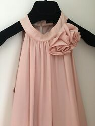 Traffic People Pastel Rose Silk Dress Special Occassion Cocktail Size 8 S