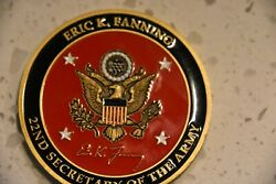 Very Rare- Eric Fanning, 22nd Secretary Of The Army Command Coin