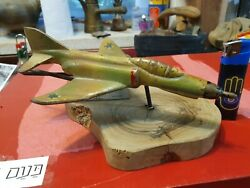 Idf Israel Iaf F-4 Phantom Metal Given To An Officer With Wooden Base