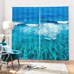 Wave Fishing Vessel 3d Curtain Blockout Photo Printing Curtains Drape Fabric