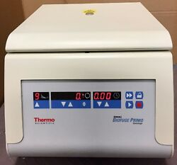 THERMO SCIENTIFIC SORVALL BIOFUGE PRIMO CENTRIFUGE WITH HERAEUS 7591 ROTOR