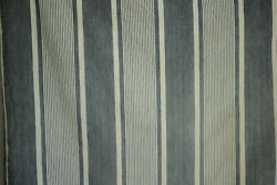 Antique French Striped Ticking Heavy Mattress Cover Blue And White Fabric