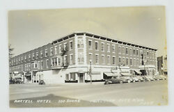 Junction City Kansas Bartell Hotel Real Photo Antique Postcard Rppc Old Cars