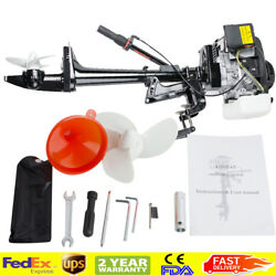 Professional 4-stroke 3.6hp Outboard Motor 55cc Boat Engine W Air Cooling System