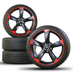 Audi 19 Inch Rims RS3 8P Aluminum Rims Rotor Summer Tires Summer Wheels Black