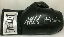 Mike Tyson And Evander Holyfield Signed Right Black Boxing Glove Jsa Tyson Holo S