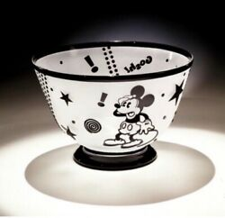 Desney Mickey Mouse Goshandrdquo Art Glass Bowl By Paul Butler Limited Ed. 34/75 Rare