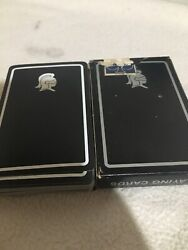 Vintage Arrco Playing Cards Black Knight Victorian Rose Back Rare Collectible