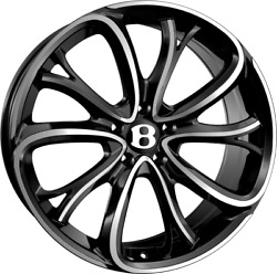 21 Ssr Iii 3 Alloys Fits Bentley Continental Gt Flying Spur Black Polished