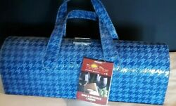 Picnic Plus Carlotta Clutch Wine amp; Beverage Carrier Houndstooth Navy NWT $12.99