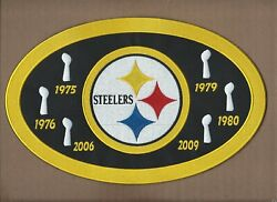 New 7 X 11 Pittsburgh Steelers 6x Champions Iron On Patch Free Shipping P1