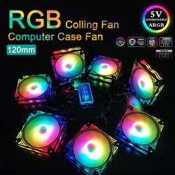 120mm Rgb Computer Case Fan Pc Cpu Cooling Sync Led Quiet With 1 Remote Control