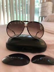 "Vintage Carrera Porsche Design 5623 40 sunglasses wrapped in ""red""leather"