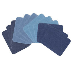 Iron On Denim Patches12 Pcs Shades of Blue Cotton Jean Patches