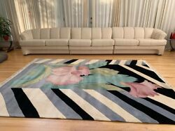 Nourison 100 Wool Contemporary And Transitional Area Rug 7and0399x 10and0393.5