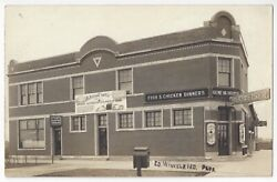 1915 Whiting, Indiana Real Photo Chicken Dinners, Budweiser Signs, Geneva House