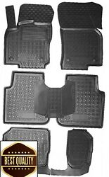 Rubber Carmats For Skoda Kodiaq 7seat 2017- All Weather Fully Tailored Floor Mat