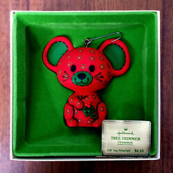HALLMARK 1978 TREE-TRIMMER COLLECTION RED CALICO MOUSE ORNAMENT QX1376 NEW MIB!