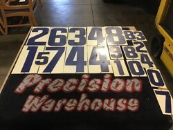 20 Metal Vintage Gas Station Price Number Signs. Various Sizes. Double Sided