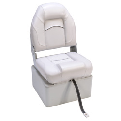 Hinge Mount High Back Seats With Seat Box Gray