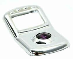 3-rocker Switch Trims Covers Purple Jewel Chrome Plastic For Peterbilt 2006 And Up