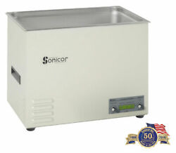 New Sonicor S-401d 7.0 Gal Digital Benchtop Ultrasonic Cleaner W/cover+basket