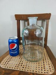 Beautiful Very Large Antique Aqua T.c.w Co Lab Bottle Great Condition