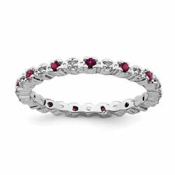 Stackable Expressions Sterling Silver Ruby And Diamond Ring Msrp176