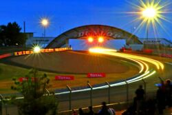 Motor Racing Action At Night 24 Hours Of Le Mans 2015 Photograph Print