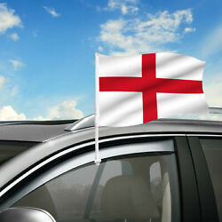 England Car Flag 18 X 12 Country Car Window Clip On Flag Graphic+hardware