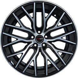 4 Flare 20 Inch Black Rims Et20 Fits Ford Mustang 2000 - 2014