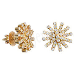 Black Friday 1.35ct Natural Round Diamond 14k Solid Yellow Gold Stud Earring