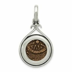 Sterling Silver And Bronze Antiqued Widows Mite Coin Charm Pendant Msrp 666