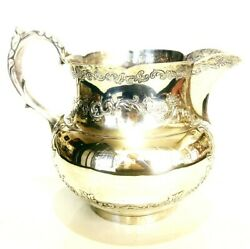1900and039s European Sterling Silver Water Pitcher Collectable Decorative